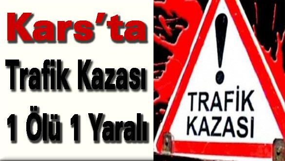 Kars'ta Trafik Kazası 1 Ölü 1 Yaralı