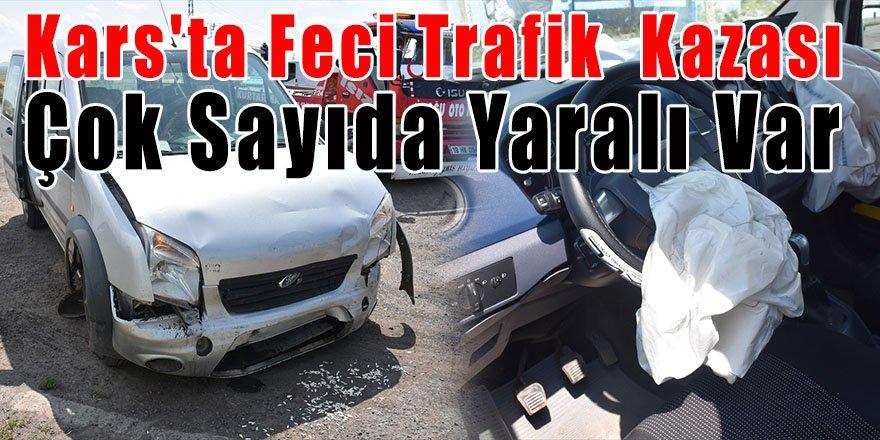 Kars'ta Feci Trafik Kazası Çok Sayıda Yaralı Var
