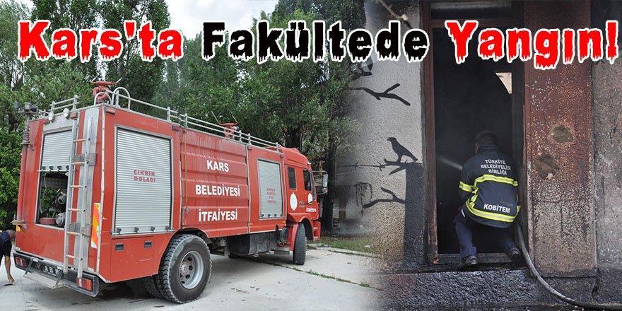 Kars'ta Fakültede Yangın!
