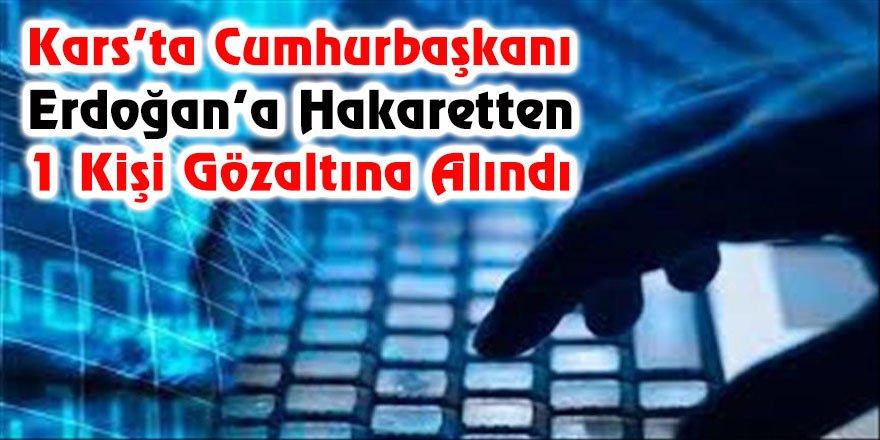 Kars'ta Cumhurbaşkanı Erdoğan'a hakaretten 1 kişi gözaltına alındı