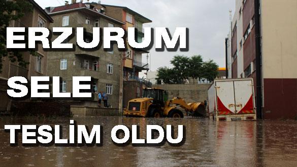 Erzurum Sele Teslim Oldu