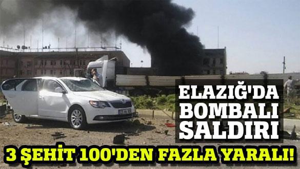 Elazığ Emniyet Müdürlüğü´ne bombalı saldırı!