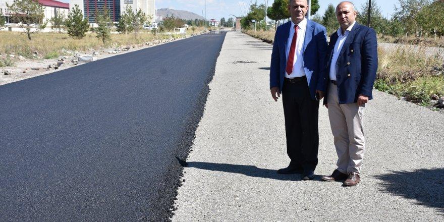 KAÜ'de asfalt çalışması