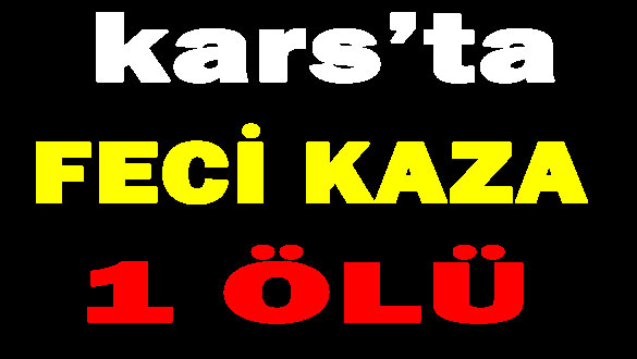 Kars'ta Feci Kaza 1 Ölü