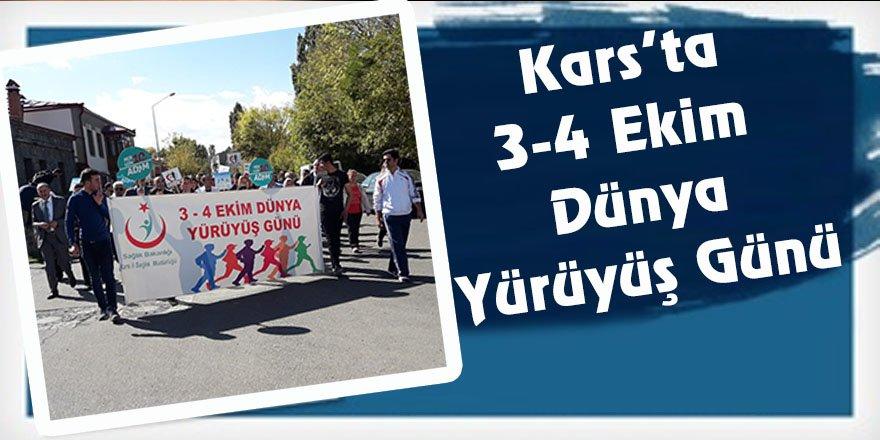 Kars'ta 3-4 Ekim Dünya Yürüyüş Günü