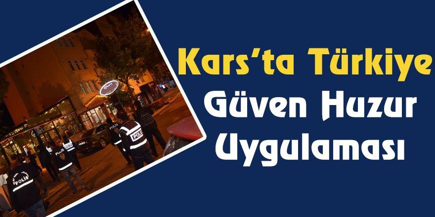 Kars'ta Türkiye güven huzur uygulaması
