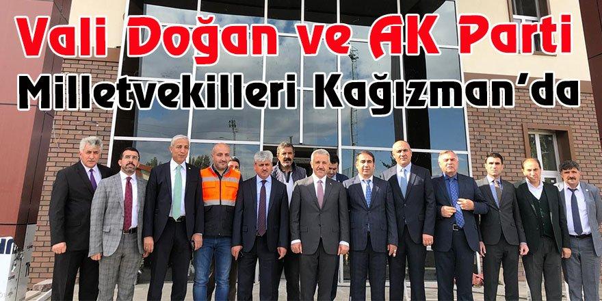 Vali Doğan ve AK Parti milletvekilleri Kağızman'da