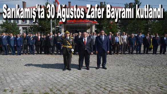Sarıkamış'ta 30 Ağustos Zafer Bayramı kutlandı