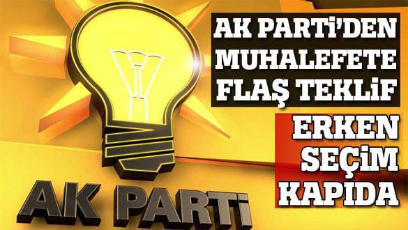AK Parti´den öneri: 3 yılda 3 seçim
