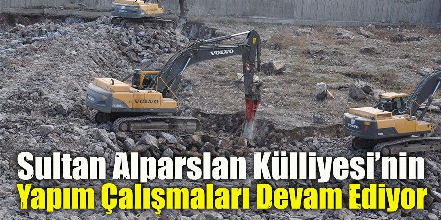 Sultan Alparslan Külliyesi'nin yapım çalışmaları devam ediyor