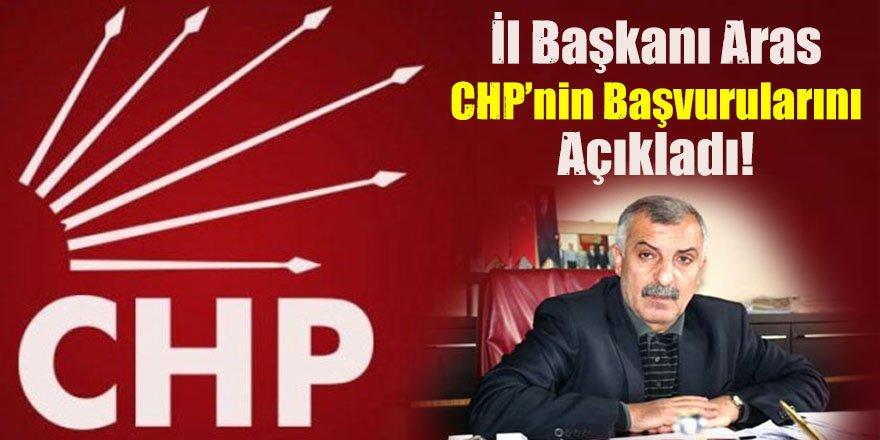 İl Başkanı Aras, CHP'nin başvurularını açıkladı!