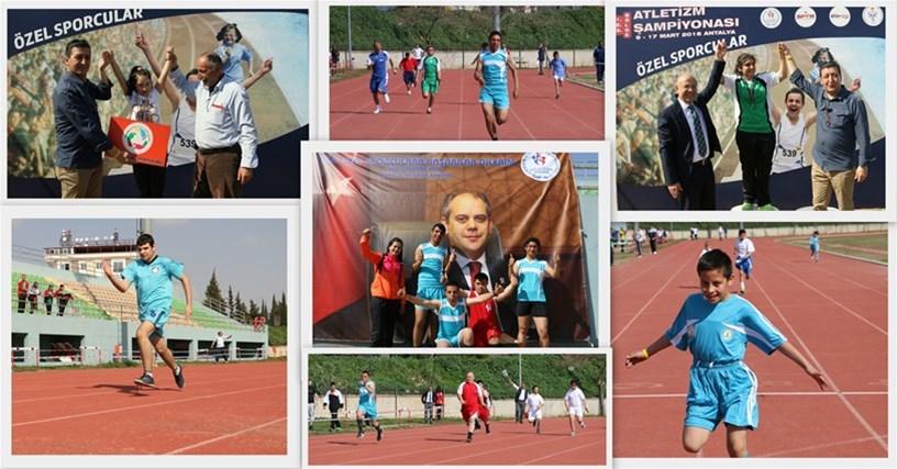 1.2.3 Bölge Özel sporcular Türkiye Atletizm şampiyonası  Sona erdi.