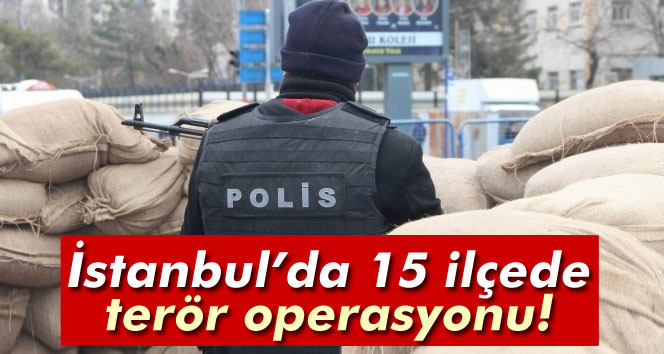 İstanbul´da 15 ilçede terör operasyonu