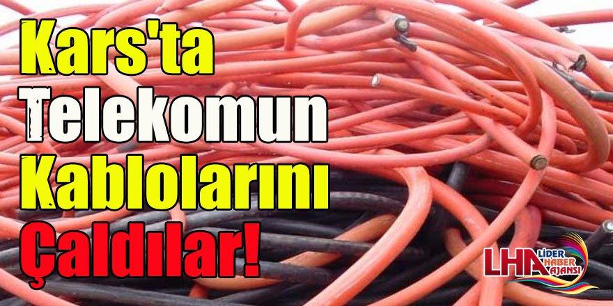 Kars'ta Telekomun Kablolarını Çaldılar!