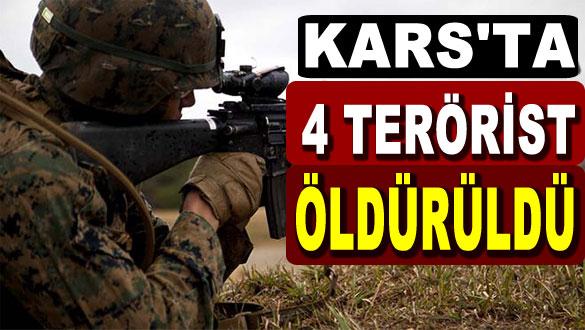 Kars'ta Çatışma 4 Terörist Öldürüldü