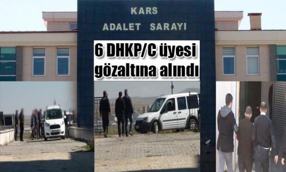 Kars'ta 6  gözaltı