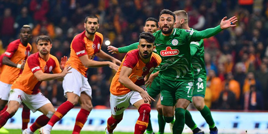 Galatasaray'a evinde Rizespor sürprizi!