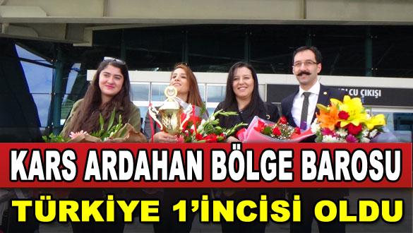 Kars-Ardahan Bölge Barosu Türkiye 1'incisi Oldu