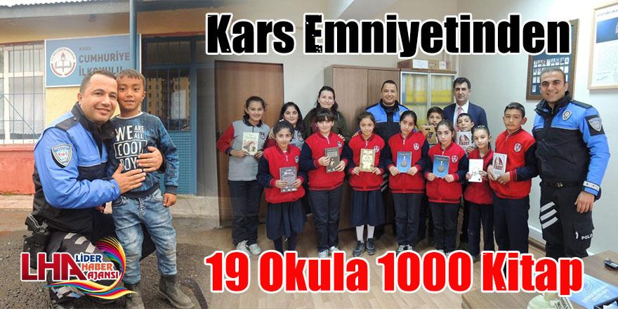 Kars Emniyetinden 19 Okula 1000 Kitap