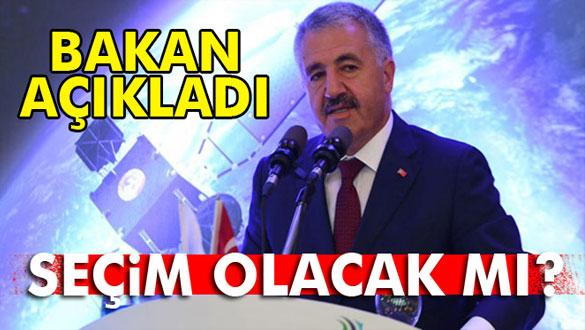 Bakan Arslan: ´Herhangi bir seçim söz konusu değil´