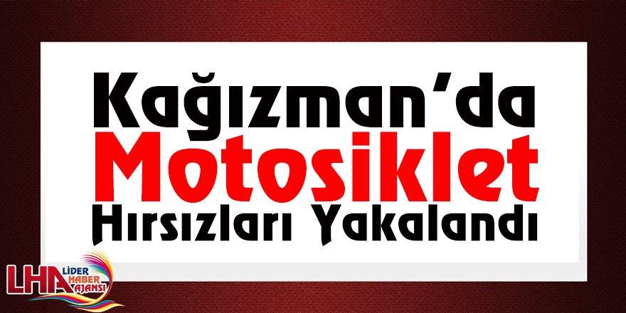 Kağızman'da Motosiklet Hırsızları Yakalandı