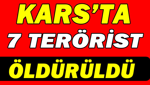 Kars'ta 7 Terörist Öldürüldü