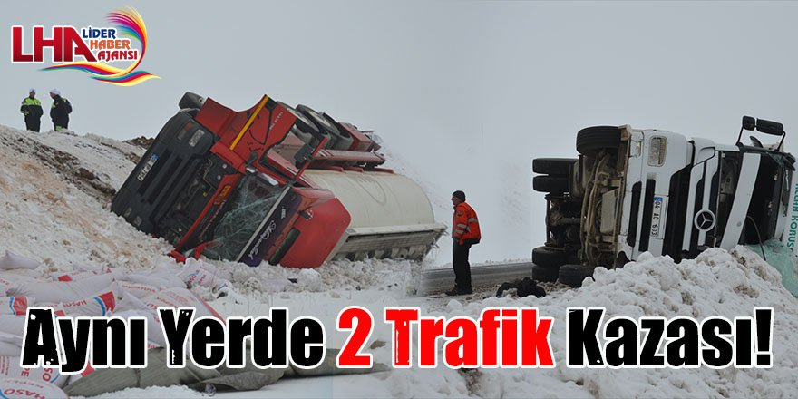 Aynı Yerde 2 Trafik Kazası!