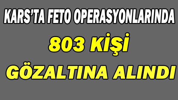Kars'ta FETO Operasyonlarında 803 Kişi Gözaltına Alındı