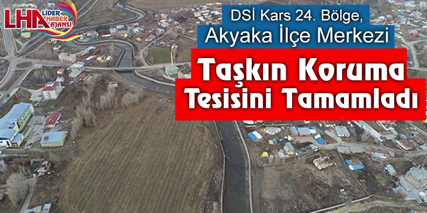 DSİ Kars 24. Bölge, Akyaka ilçe merkezi taşkın koruma tesisini tamamladı