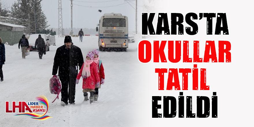 Kars'ta Okullar Tatil Edildi!