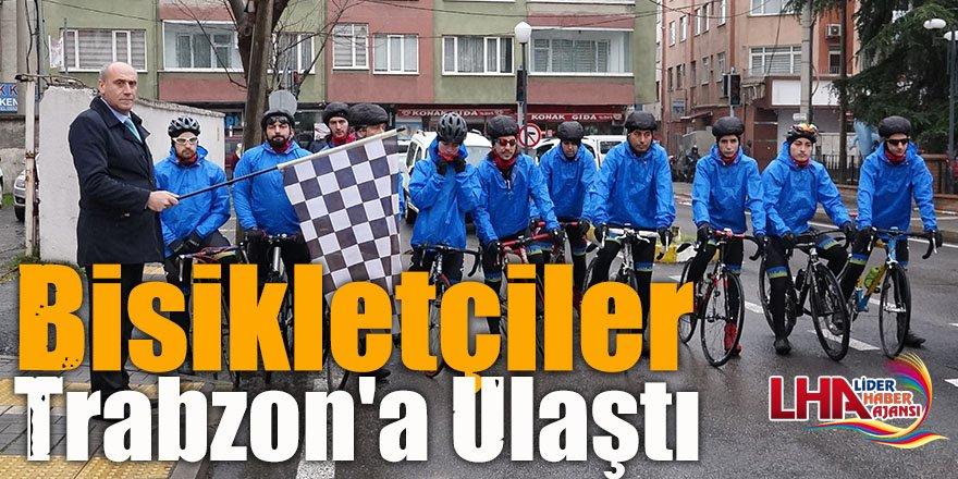 Sarıkamış Şehitlerini Anma Bisiklet Turu'nda Bisikletçiler Trabzon'a Ulaştı