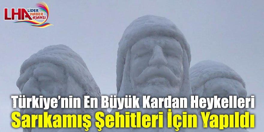 Türkiye'nin En Büyük Kardan Heykelleri Sarıkamış Şehitleri İçin Yapıldı