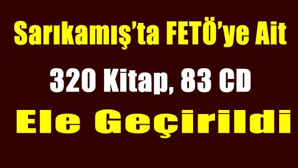 Sarıkamış'ta FETÖ'ye Ait 320 Kitap, 83 CD Ele Geçirildi