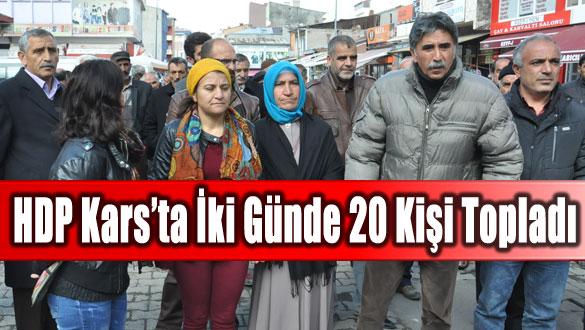 HDP Kars'ta İki Günde 20 Kişi Topladı