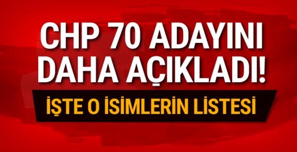 CHP'nin 70 belediye başkan adayı daha belli oldu