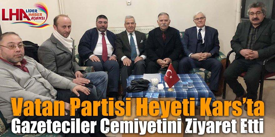 Vatan Partisi Heyeti Kars'ta Gazeteciler Cemiyetini Ziyaret Etti