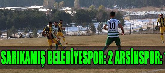 Sarıkamış Belediyespor: 2- Arsinspor: 1