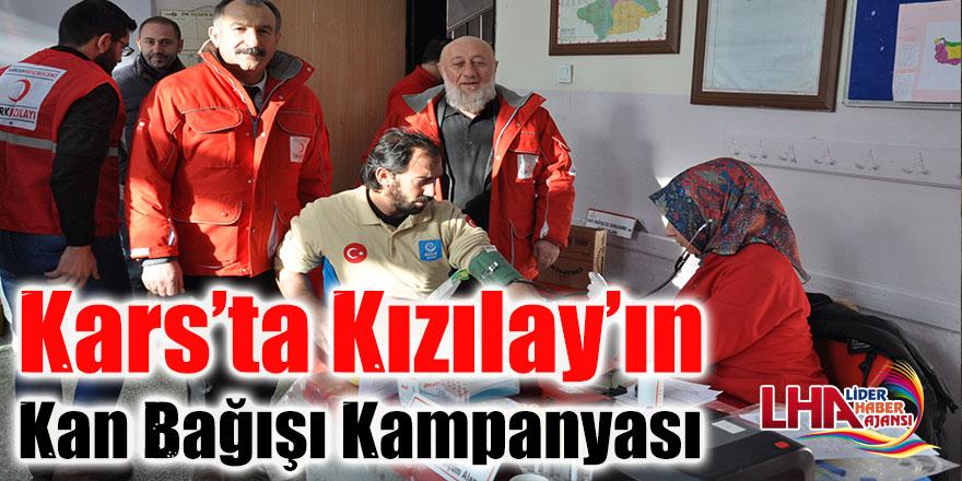 Kars'ta Kızılay'ın kan bağışı kampanyası