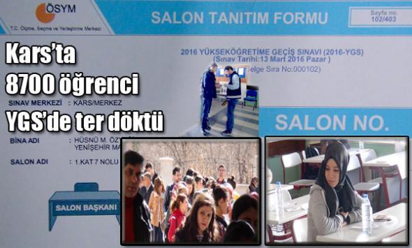 Kars'ta 8700 öğrenci YGS'de ter döktü