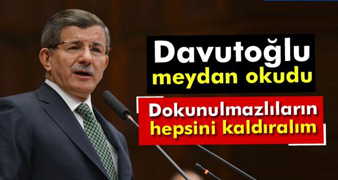 Başbakan Davutoğlu: Gelin hep beraber dokunulmazlıkları kaldıralım