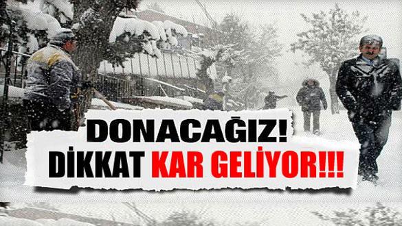 Meteoroloji uyardı; Doğu Anadolu'ya kar geliyor