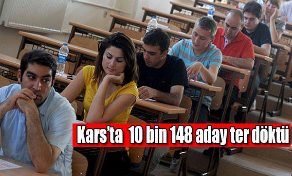 Kars'ta 10 bin 148 aday ter döktü