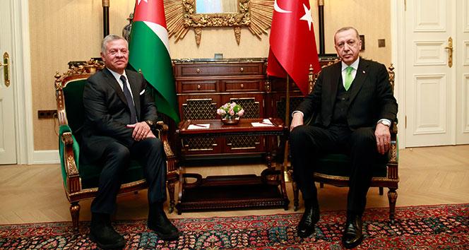 Cumhurbaşkanı Erdoğan, Ürdün Kralı Abdullah ile bir araya geldi