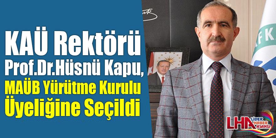 KAÜ Rektörü Prof.Dr.Hüsnü Kapu, MAÜB Yürütme Kurulu Üyeliğine Seçildi