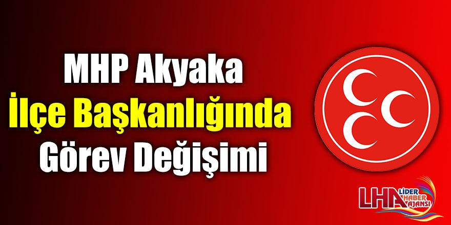 MHP Akyaka İlçe Başkanlığında Görev Değişimi