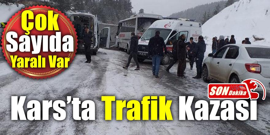 Kars'ta Trafik Kazası! Çok Sayıda Yaralı Var