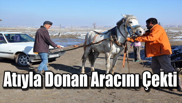 Atıyla Donan Aracını Çekti