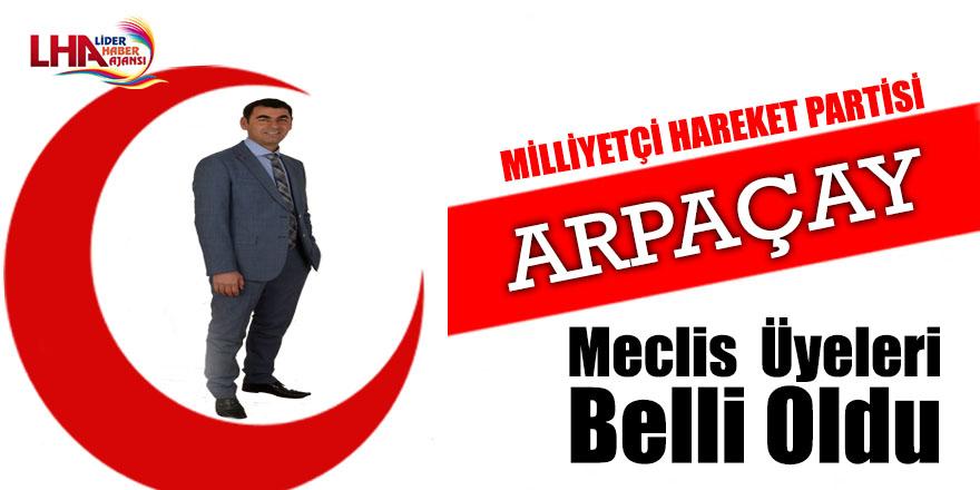 Arpaçay Belediye Meclis  Üyeleri Belli Oldu
