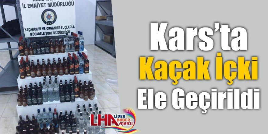 Kars'ta Kaçak İçki Ele Geçirildi