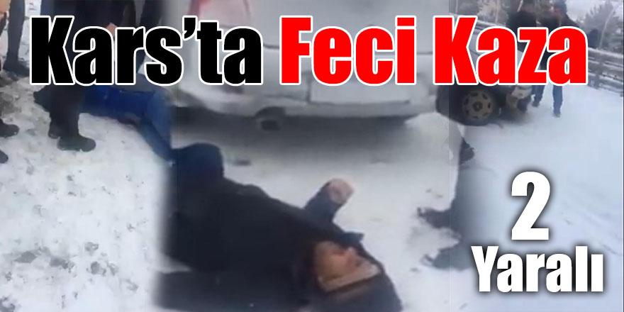 Kars'ta Feci Kaza 2 Yaralı